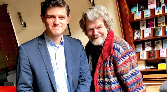 Julien Backhaus und Reinhold Messner